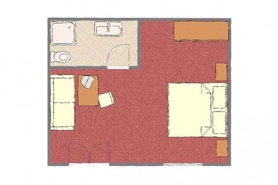 Grundriss - Kategorie 1b - Völserhof - Zimmer - Bad Hofgastein