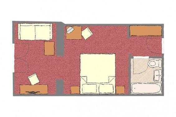 Grundriss - Kategorie 2 - Völserhof - Zimmer - Bad Hofgastein
