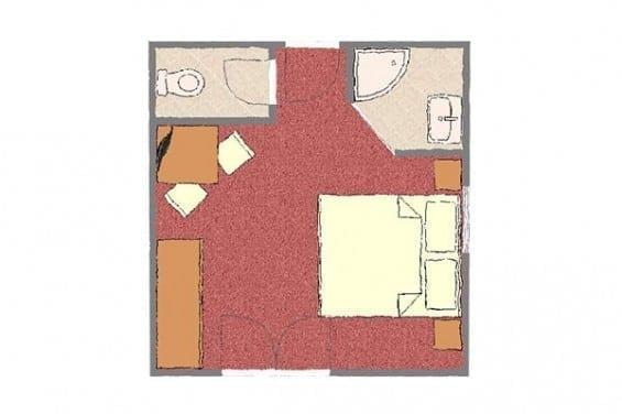 Grundriss - Kategorie 2b - Völserhof - Zimmer - Bad Hofgastein