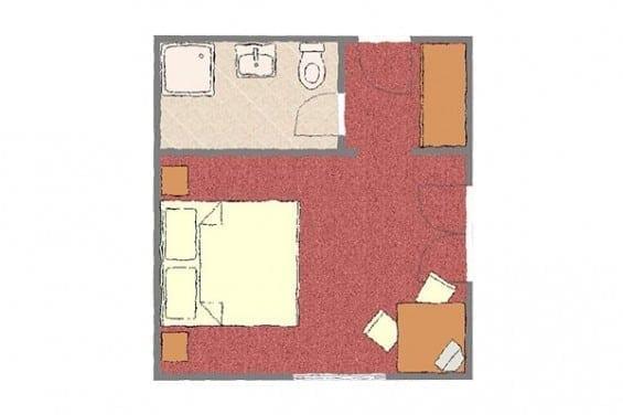 Grundriss - Kategorie 3 - Doppelzimmer - Völserhof - Zimmer - Bad Hofgastein