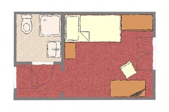 Grundriss - Kategorie 3 - Einzelzimmer - Völserhof - Zimmer - Bad Hofgastein